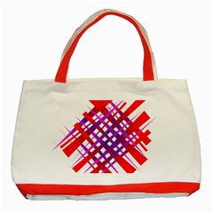 Chaos Bright Gradient Red Blue Classic Tote Bag (red)