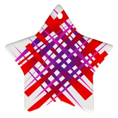 Chaos Bright Gradient Red Blue Star Ornament (Two Sides)