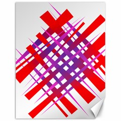 Chaos Bright Gradient Red Blue Canvas 12  x 16