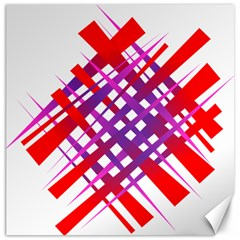 Chaos Bright Gradient Red Blue Canvas 20  X 20