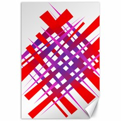 Chaos Bright Gradient Red Blue Canvas 24  x 36