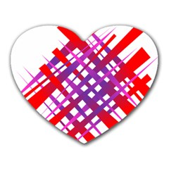 Chaos Bright Gradient Red Blue Heart Mousepads