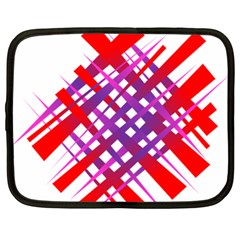 Chaos Bright Gradient Red Blue Netbook Case (Large)