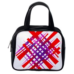 Chaos Bright Gradient Red Blue Classic Handbags (one Side)