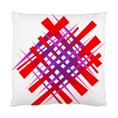 Chaos Bright Gradient Red Blue Standard Cushion Case (One Side)