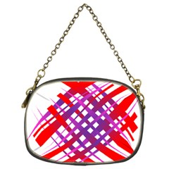 Chaos Bright Gradient Red Blue Chain Purses (Two Sides)