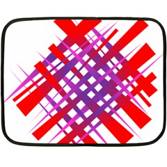 Chaos Bright Gradient Red Blue Fleece Blanket (mini)
