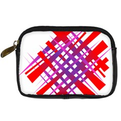 Chaos Bright Gradient Red Blue Digital Camera Cases