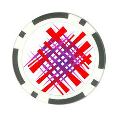 Chaos Bright Gradient Red Blue Poker Chip Card Guard (10 pack)