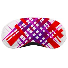 Chaos Bright Gradient Red Blue Sleeping Masks