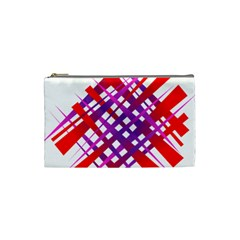 Chaos Bright Gradient Red Blue Cosmetic Bag (Small)