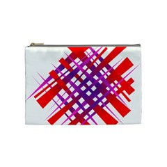 Chaos Bright Gradient Red Blue Cosmetic Bag (Medium)