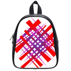 Chaos Bright Gradient Red Blue School Bags (small)
