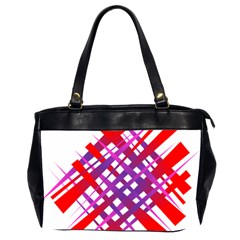 Chaos Bright Gradient Red Blue Office Handbags (2 Sides)