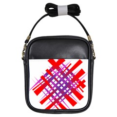 Chaos Bright Gradient Red Blue Girls Sling Bags