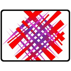 Chaos Bright Gradient Red Blue Fleece Blanket (Large)