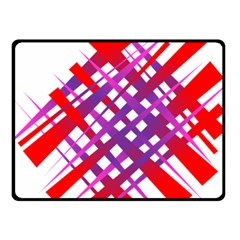 Chaos Bright Gradient Red Blue Fleece Blanket (Small)