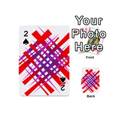 Chaos Bright Gradient Red Blue Playing Cards 54 (mini)