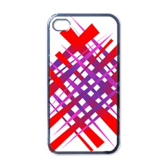 Chaos Bright Gradient Red Blue Apple Iphone 4 Case (black)