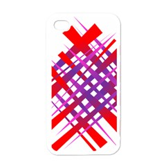 Chaos Bright Gradient Red Blue Apple Iphone 4 Case (white)