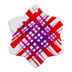 Chaos Bright Gradient Red Blue Ornament (Snowflake)