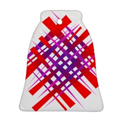 Chaos Bright Gradient Red Blue Ornament (bell)