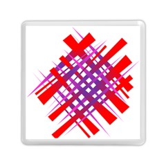 Chaos Bright Gradient Red Blue Memory Card Reader (Square)