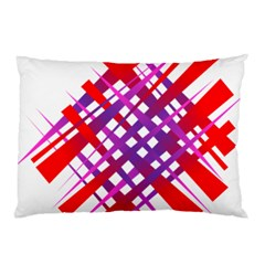 Chaos Bright Gradient Red Blue Pillow Case (Two Sides)