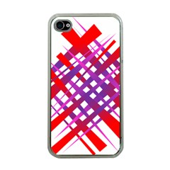 Chaos Bright Gradient Red Blue Apple iPhone 4 Case (Clear)