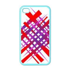 Chaos Bright Gradient Red Blue Apple iPhone 4 Case (Color)