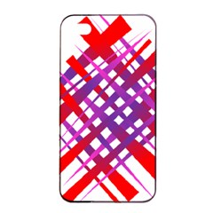 Chaos Bright Gradient Red Blue Apple Iphone 4/4s Seamless Case (black)