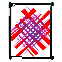 Chaos Bright Gradient Red Blue Apple iPad 2 Case (Black)