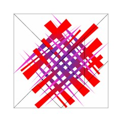 Chaos Bright Gradient Red Blue Acrylic Tangram Puzzle (6  X 6 )