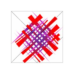 Chaos Bright Gradient Red Blue Acrylic Tangram Puzzle (4  x 4 )