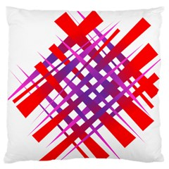 Chaos Bright Gradient Red Blue Large Cushion Case (Two Sides)