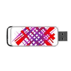 Chaos Bright Gradient Red Blue Portable USB Flash (One Side)