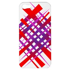 Chaos Bright Gradient Red Blue Apple Iphone 5 Hardshell Case