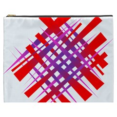 Chaos Bright Gradient Red Blue Cosmetic Bag (xxxl)