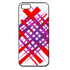 Chaos Bright Gradient Red Blue Apple iPhone 5 Seamless Case (Black)