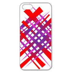 Chaos Bright Gradient Red Blue Apple Seamless Iphone 5 Case (clear)