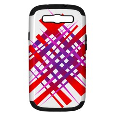 Chaos Bright Gradient Red Blue Samsung Galaxy S Iii Hardshell Case (pc+silicone)