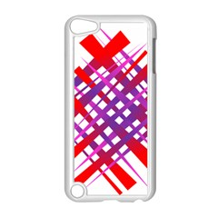 Chaos Bright Gradient Red Blue Apple Ipod Touch 5 Case (white)