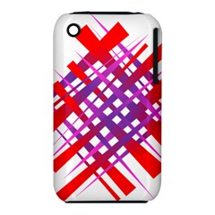 Chaos Bright Gradient Red Blue iPhone 3S/3GS