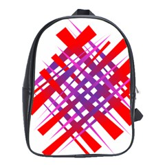Chaos Bright Gradient Red Blue School Bags (XL)