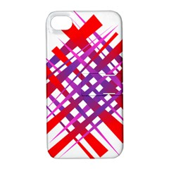 Chaos Bright Gradient Red Blue Apple Iphone 4/4s Hardshell Case With Stand