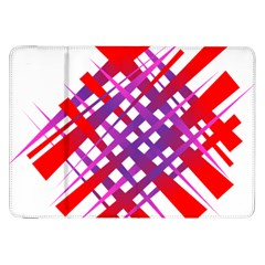 Chaos Bright Gradient Red Blue Samsung Galaxy Tab 8.9  P7300 Flip Case