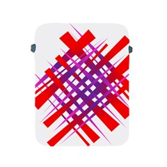 Chaos Bright Gradient Red Blue Apple iPad 2/3/4 Protective Soft Cases