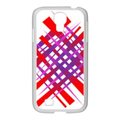 Chaos Bright Gradient Red Blue Samsung Galaxy S4 I9500/ I9505 Case (white)