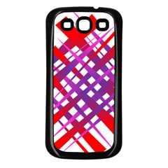 Chaos Bright Gradient Red Blue Samsung Galaxy S3 Back Case (Black)