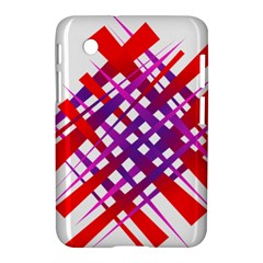 Chaos Bright Gradient Red Blue Samsung Galaxy Tab 2 (7 ) P3100 Hardshell Case